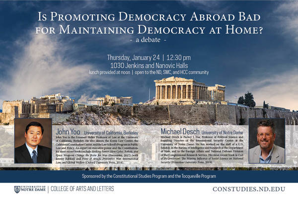Is Promoting Democracy Abroad Bad for Maintaining Democracy at Home? A Debate